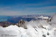 Uitzicht over de Alpen, Lake Pukaki op de achtergrond