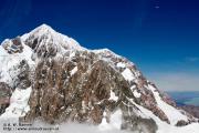 Mount Cook & een vliegtuig