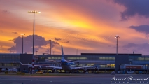 Sunrise at Schiphol