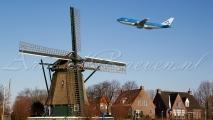 KLM Boeing 747 & Windmolen