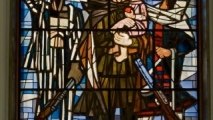 59 - Sachsenhausen (Glas in lood / Stained glass)