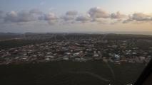 Curaçao, vlak voor de landing.