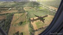 Curaçao vanuit de lucht - Schaduw van het vliegtuig