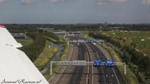 De A9 vlakbij Schiphol