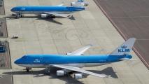 KLM Boeing 747 & MD-11 op de buffer