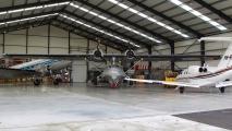 De Catalina in de hangar