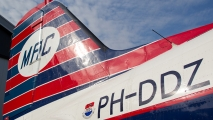 DC3 PH-DDZ in het ochtendlicht