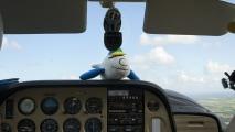 Ko Piloot vliegt mee met een hoogvlieger