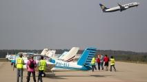 Ryanair B738 gaat er vandoor