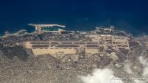 Vliegveld in Griekenland, buiten gebruik