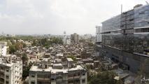 Uitzicht vanaf dakterras kantoor