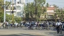Drukke verkeer in India