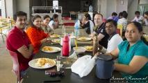 Collega\'s tijdens mijn laatste lunch in India