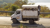 Typisch Indische manier van vervoer