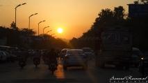 Zonsondergang in Pune
