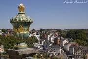Uitzicht vanuit de tuin van Schloss Weilburg