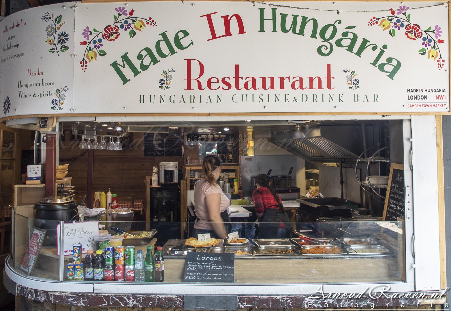 Eet gelegenheid in Camden Horse Stables Market