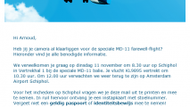 MD-11 farewell flight info e-mail