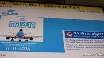Check-in voor de MD-11 farewell flight