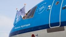 De vlag uit voor de MD-11!