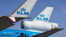 Typische MD-11 winglet en staartmotor
