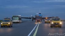 Het ere rondje van de MD-11 over Schiphol