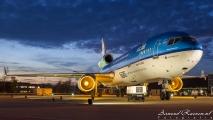 De MD-11 staat mooi in het licht