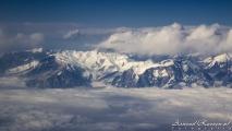 Uitzicht op de Himalaya