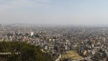 Uitzicht over Kathmandu vanaf Swayambhunath