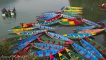 Bootjes op Lake Phewa