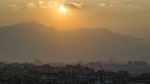 Zonsondergang over Kathmandu