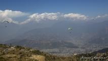 Himalaya tijdens mijn paraglide vlucht