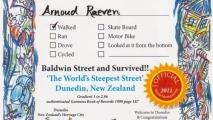 's werelds steilste straat - certificaat