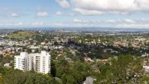 Panorama uitzicht vanaf Mount Eden