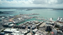 Jachthaven van Auckland vanuit de Skytower