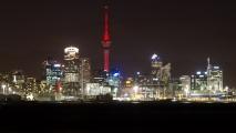 Auckland in de avond