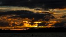 Zonsondergang bij Paihia/Russel