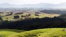 Panorama uitzicht over een vallei