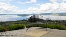 Panorama uitzicht over Lake Rotorua