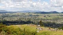 Panorama uitzicht over Rotorua