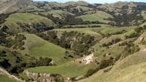 Uitzicht over het landschap bij Kidnappers cliff