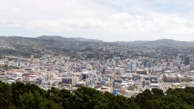 Panorama uitzicht over Wellington