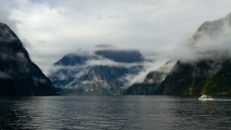 Uitzicht over Milford Sounds