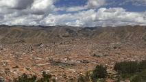 Panorama uitzicht op Cusco