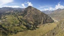 Panorama uitzicht vanuit Pisac