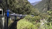 De trein naar Aguas Calientes