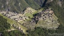 Machu Picchu gezien vanaf het laatste stuk van de Inca Trail