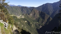 Machu Picchu gezien vanaf de zonnepoort (Intipunku)