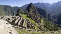 Panorama uitzicht op Machu Picchu