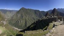 Panorama uitzicht op Machu Picchu en omgeving